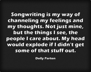 Songwriting Quote